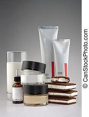 Cosmetics - milk and ice cream