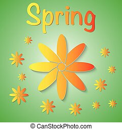 Vector illustration of a spring background