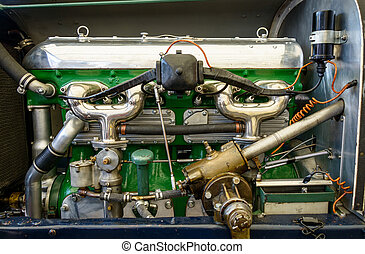 Vintage car engine