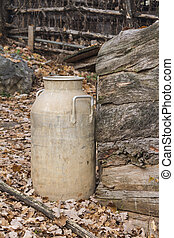 old milk container