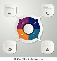 Vector illustration infographics circle with four quadrants...
