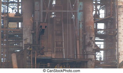 Metallurgical Plant Building - Unloading of Raw Materials in...