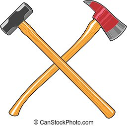 Firefighter Ax and Sledge Hammer is an illustration of a...
