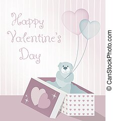 illustration gift taddy - illustration for Valentine's Day...