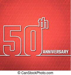anniversary outline BG - Vector Illustration of Anniversary...