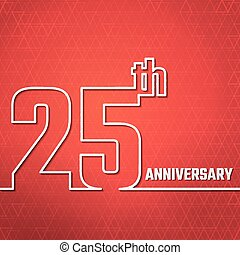 anniversary outline BG - Vector Illustration of Anniversary...