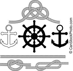 Vector illustration on the theme of sea