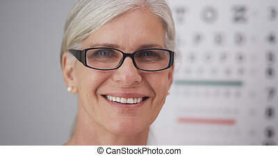 Beautiful mature woman with glasses - Beautiful mature woman...