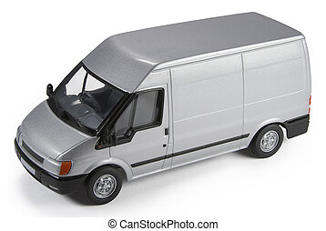 Commercial Van Model - Die-cast toy model of a commercial...