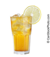 Ice tea - Iced tea with lemon isolated on white