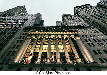 Wall Street building in downtown NYC