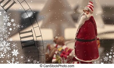 Santa Claus and Christmas Watches loop ready File background