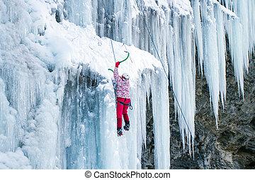 Ice climbing the North Caucasus.