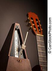 Vintage metronome - Color shot of a vintage metronome, next...