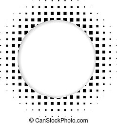 Circle halftone vector element for your design. Technology circle with place for text.