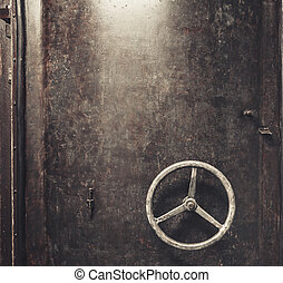 scratched metal door background