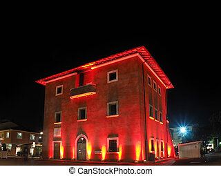Fortino the symbol of Forte dei Marmi by night enlightened...