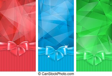 Abstract background with bow - Set of 3 abstract background...