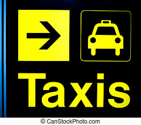 Airport information taxis sign light - Airport information...