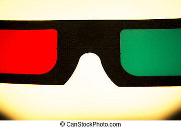 3d three dimensional glasses to watch 3-d films on...