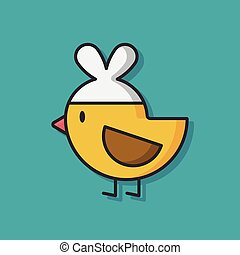 chicken animal vector icon