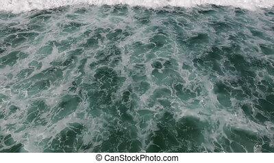 Aerial from ocean waves