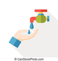 water Faucet flat icon