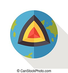 earth core flat icon
