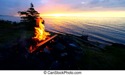 Camp Fire at Great Lakes