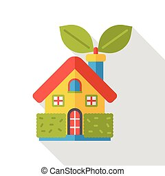 energy house flat icon