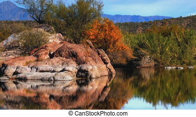 Reflection Pond - Arizona reflection pond panorama