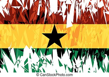 Flag of Ghana - Flag of Ghana in grunge style Vector...