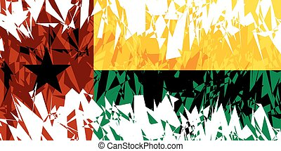 Flag of Guinea Bissau - Flag of Guinea-Bissau in grunge...
