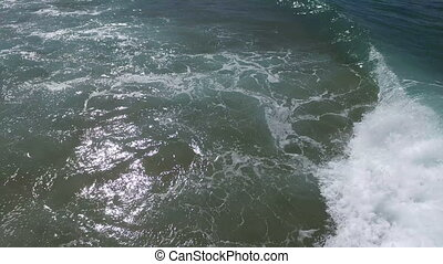 Aerial from ocean waves