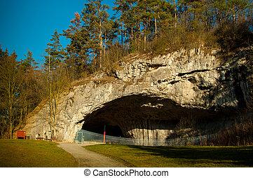 Cueva, cuál, es, llamado, Kulna.,