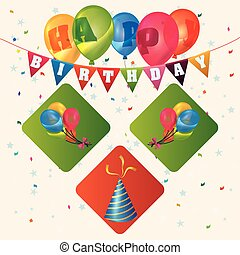 Happy Birthday design - Happy Birthday concept with party...