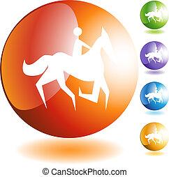 Horse Jockey Icon