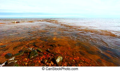 Cranberry River and Lake Superior - Cranberry River flows...