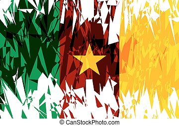 Flag of Cameroon - Flag of Cameroon in grunge style Vector...