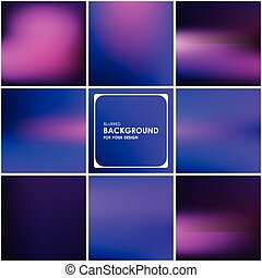 Set of abstract blurred background