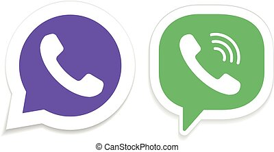 IM instant messenger icons. Phone handset vector icons