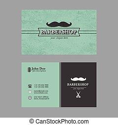 loja, barbeiro, negócio, cartão