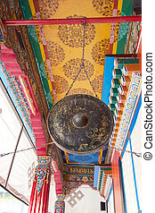 Rumtek Monastery, Sikkim, India - Ritual gong at the Rumtek...