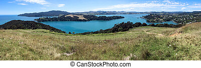 Aerial landscape view of Mangonui New Zealand - Aerial...