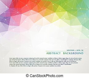 Abstract background with triangular mosaic