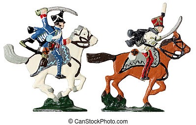 French Hussars Toy Soldiers