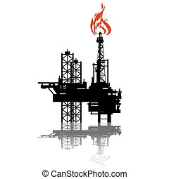 Extraction of oil - Abstract icon extraction of petroleum...