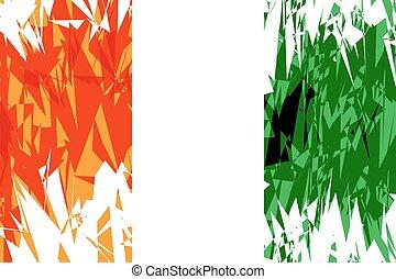 Flag of Cote d'Ivoire.