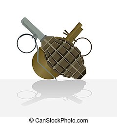 Grenades - Defensive and offensive military weapons. The...