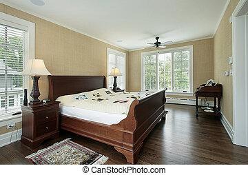 Master bedroom with back yard view - Master bedroom in...